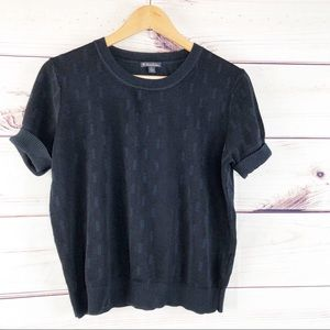 T274 Brooks Brothers navy blue short sleeve top